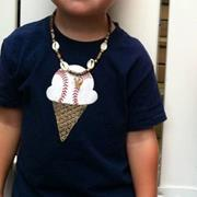 Baseball Cone Sundae School Shirt